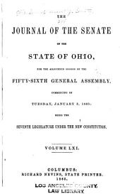 Journal of the Senate of the ... General Assembly of Ohio: Volume 56