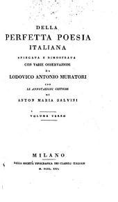 Della perfetta poesia Italiana: Volume 3