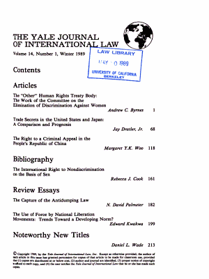 The Yale Journal of International Law PDF