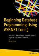 Beginning Database Programming Using ASP NET Core 3 PDF