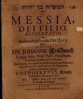 ham- Māšîaḥ ben YHWH Sive De Messia, Dei Filio, Dissertatio ad illustrandum locum Psal. II