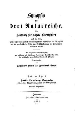 Synopsis der drei Naturreiche v  3 pt  2  1876 PDF