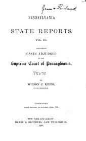 Pennsylvania State Reports: Volume 171