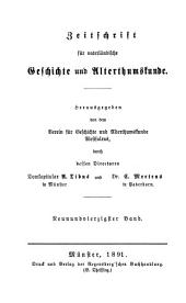 Zeitschrift für vaterländische Geschichte und Altertumskunde: Band 49