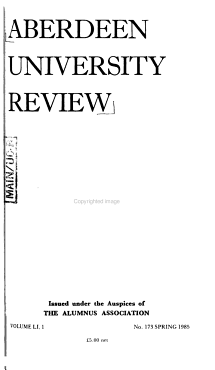 Aberdeen University Review PDF