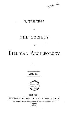 Transactions of the Society of Biblical Arch  ology PDF