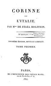 Corinne, ou, L'Italie: Volume1