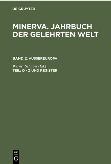 O   Z und Register PDF