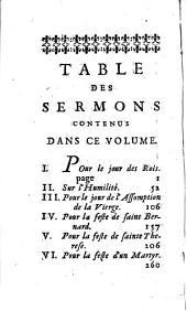 Sermons choisis sur divers sujets, par feu messire François de Salignac de la Mothe Fénelon,...