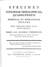 Specimen zoologiae geographicae: quadrupedum domicilia et migrationes sistens