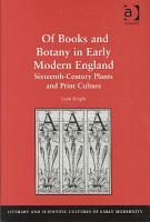 Of Books and Botany in Early Modern England PDF