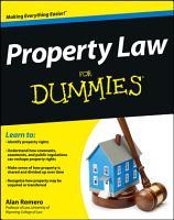 Property Law For Dummies PDF
