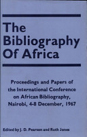 The Bibliography of Africa PDF