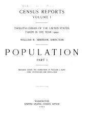 Census reports: Volume 1