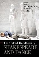 The Oxford Handbook of Shakespeare and Dance PDF