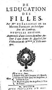 De l'éducation des filles, par Mre de Salignac de La Mothe Fénelon...