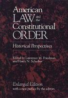 American Law and the Constitutional Order PDF