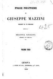 Prose politiche di Giuseppe Mazzini