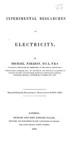 Experimental Researches in Electricity: Volume 1