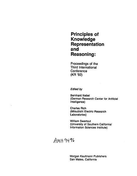 Download Principles of Knowledge Representation and Reasoning Book