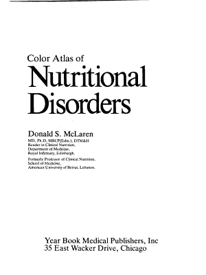 Color Atlas of Nutritional Disorders PDF