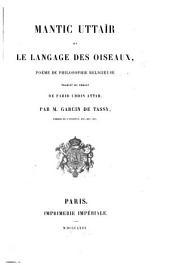 Mantic uttaïr; ou, Le language des oiseaux, poëme de philosophie religieuse