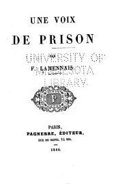 Une voix de prison