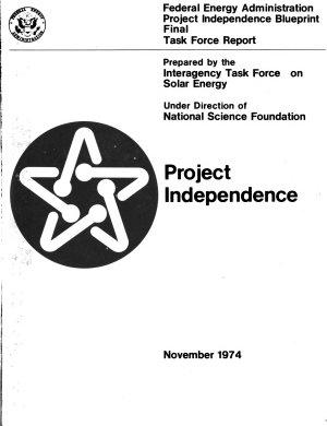 Project Independence Blueprint  Interagency Task Force on Solar Energy  Solar energy