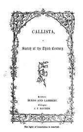 Callista, a Sketch of the Third Century