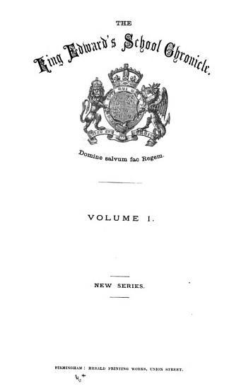 The King Edward s school chronicle PDF