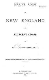 Marine Algae of New England and Adjacent Coast