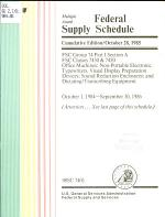Multiple Award Federal Supply Schedule
