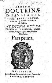 Ethica doctrina: libri novem