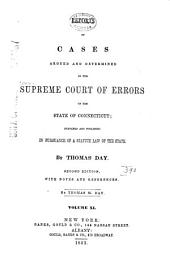 Connecticut Reports: Proceedings in the Supreme Court of the State of Connecticut, Volume 11