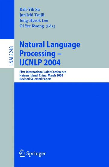 Natural Language Processing     IJCNLP 2004 PDF