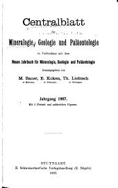 Zentralblatt für Mineralogie, Geologie und Paläontologie in Verbindung mit dem Neuen Jahrbuch für Mineralogie, Geologie, und Paläontologie herausgegeben...