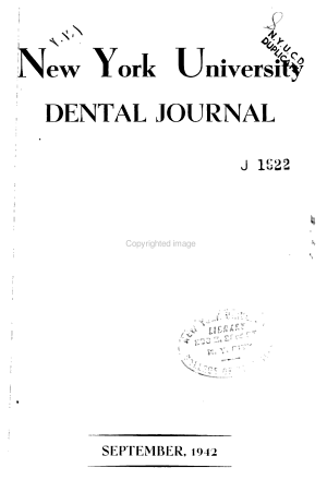 New York University Dental Journal PDF
