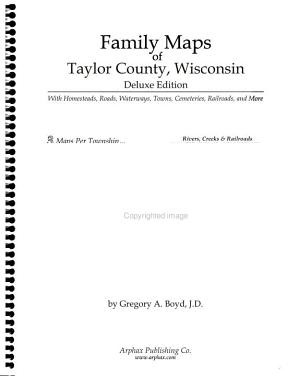 Family Maps of Taylor County  Wisconsin