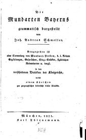 Die mundarten Bayerns: grammatisch dargestellt
