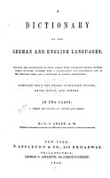 A dictionary of the German and English languages PDF