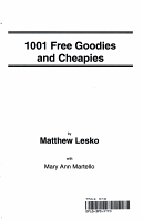One Thousand One Free Goodies and Cheapies PDF