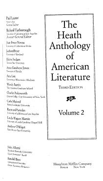 The Heath Anthology of American Literature PDF