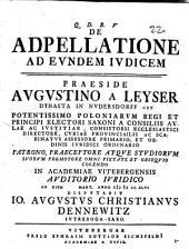De Adpellatione Ad Evndem Ivdicem
