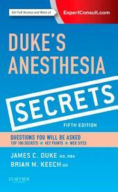 Duke's Anesthesia Secrets E-Book: Edition 5