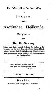 Journal der practischen Arzneykunde und Wundarzneykunde: Band 87