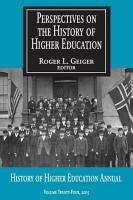 Perspectives on the History of Higher Education PDF