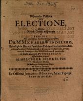 Disputatio Politica De Electione