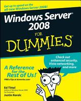 Windows Server 2008 For Dummies PDF