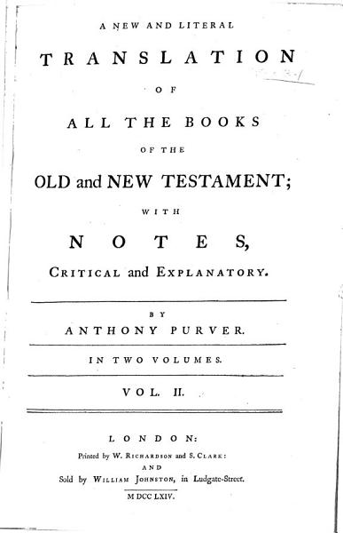 Download A New and Literal Translation of All the Books of the Old and New Testament Book