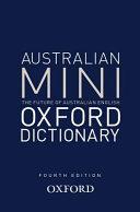 Australian Oxford Mini Dictionary PDF
